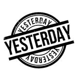 Yesterday rubber stamp Stock Image