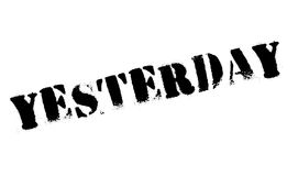 Yesterday rubber stamp Royalty Free Stock Photography