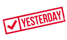 Yesterday rubber stamp Stock Photography