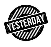 Yesterday rubber stamp Royalty Free Stock Images
