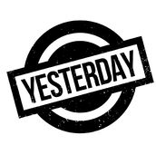 Yesterday rubber stamp Royalty Free Stock Photos