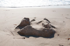 Yesterday's Sandcastle Royalty Free Stock Images