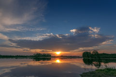 Yesterday& x27;s sunset. Sunset in Nederweert, Netherlands Royalty Free Stock Photo