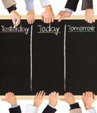 Yesterday, today, tomorrow Royalty Free Stock Photo