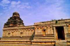 Yesteryear glory in ruins. Yesteryear remains of the temple dedicated to Lord Shiva taken at the World famous UNESCO World heritage city of Hampi,Karnataka,India Royalty Free Stock Images