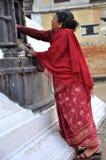 Pregando a Yethkha Baha Fotografie Stock Libere da Diritti