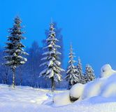The yeti. Russian winter in Christmas holidays stock photography