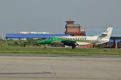 Yeti Airlines à l'aéroport international du Népal Tribhuvan Images libres de droits