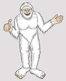 Yeti-friendly-snow-man. A color cartoon illustration of a friendly creature - a snow man, Yeti Stock Images