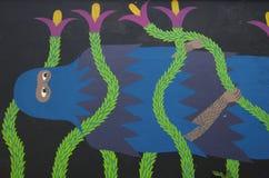 Yeti-Graffiti Lizenzfreies Stockbild