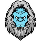 Yeti Head Royalty Free Stock Image