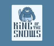 Yeti King of the snow Stock Photos