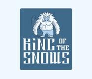Yeti King of the snows Stock Photos