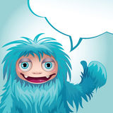 Yeti message Royalty Free Stock Image