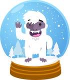 Yeti snow globe Stock Image