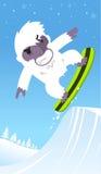 Yeti snowboard skiing Royalty Free Stock Photography