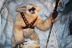 Yeti with a stick Stock Image