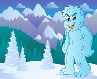 Yeti theme image 2 Royalty Free Stock Image