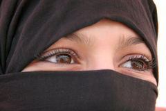 Yeux arabes Images stock