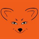 Yeux astucieux animaux principaux rouges de Fox Photos stock