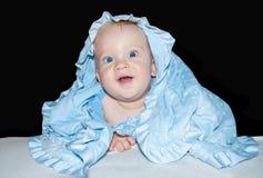 Yeux bleus de bébé garçon Images libres de droits