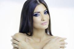 Yeux bleus sexy Photographie stock libre de droits
