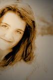 yeux bruns Images libres de droits