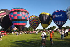 Yeux chauds de ballon à air au festival de cieux Photographie stock libre de droits