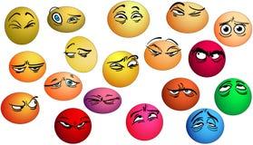 Yeux d'émotions avec l'expression illustration de vecteur