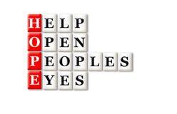 Yeux d'espoir Photo libre de droits