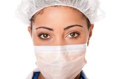 Yeux d'infirmière de docteur Photographie stock libre de droits