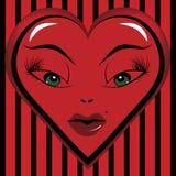 Yeux d'un amoureux de Valentine Image libre de droits