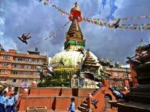 Yeux de Buddhas Photographie stock libre de droits