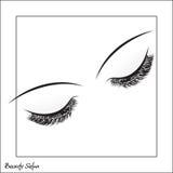 yeux de cils longs Photo stock