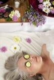 Yeux de concombre Photographie stock libre de droits