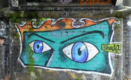 yeux de graffiti image stock