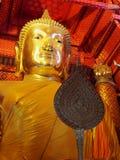 Yeux de pitié et de gentillesse de Bouddha chez la Thaïlande Images libres de droits