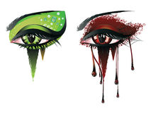 Yeux de vampire de carnaval Images stock