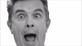 Yeux drôles de roulement de visage de porte-parole rapide banque de vidéos