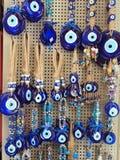 Yeux en verre bleus Photo stock