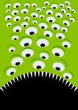 Yeux et bouche étrangers verts Photo libre de droits