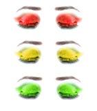 Yeux femelles multicolores. Plan rapproché. Images libres de droits
