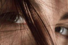 Yeux femelles tristes Photos libres de droits