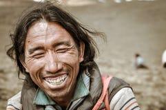 Yeux fermés au Népal Photo libre de droits
