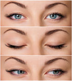 Yeux gris photo stock