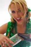 Yeux irlandais ! Image stock