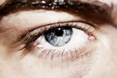Yeux profonds photographie stock