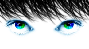 Yeux spectraux Image stock