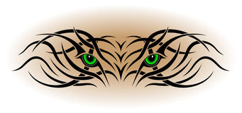 Yeux, tatouage tribal illustration stock