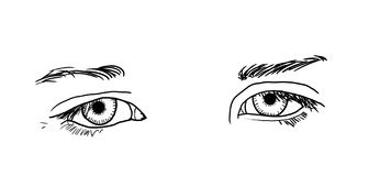 Yeux tristes Photographie stock